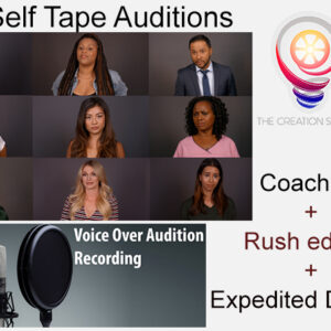 The Creation Station Studios - Self Tape Audition and Voice Over package Deal with coaching and rush edit