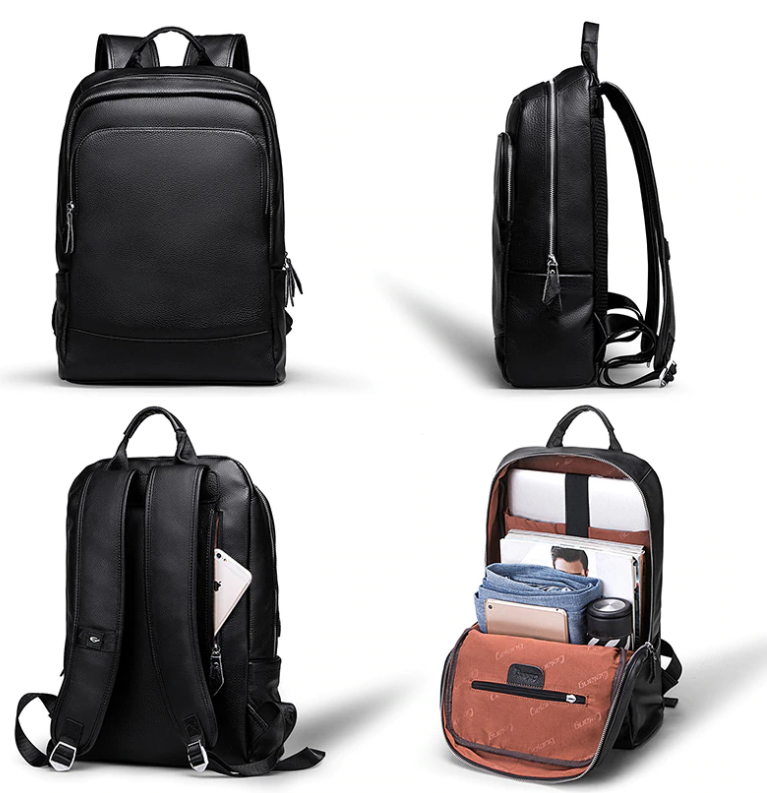 Hip Trendy Genuine Leather Backpack, Travel Computer Bag33