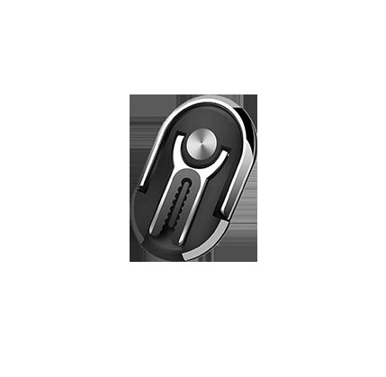 meteorite black - Universal 2 in 1 Air Vent Car Phone Finger Grip Ring Mount 360 Rotation & 180 Flip