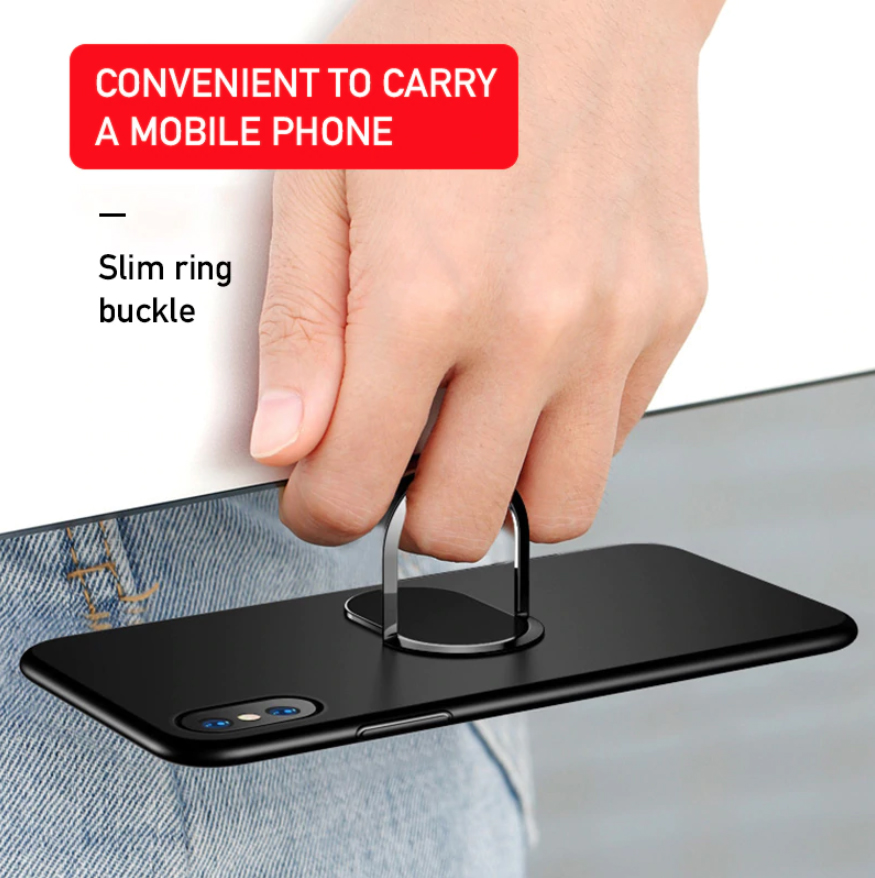 retailopolis Universal Ultra thin Phone Finger Ring Holder Stand 360 Degree 180 Flip31